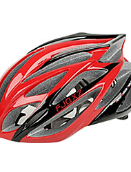 cheap -FJQXZ Integrally-molded EPS+PC Red Cycling Helmets (21 Vents)