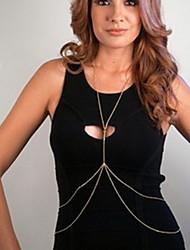 Недорогие -Женский Украшения для тела Цепочка для живота Цепь Тела / Belly Chain Уникальный дизайн Мода Простой стиль Двойной слой европейский Сплав