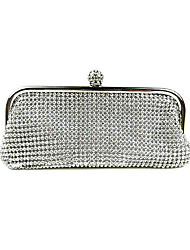 cheap -Women's Bags Nylon Evening Bag Crystal Detailing Crystal/ Rhinestone for Event/Party Winter Gold Black Silver