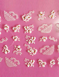 preiswerte -3D-Design Rose Pattern Carving Nail Art Sticker