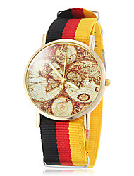 cheap -Unisex Earth Map Pattern National Style Fabric Band Quartz Wrist Watch (Assorted Colors) Cool Watches Unique Watches