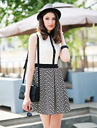 TS Jednostavnost kontrast boja Rever Dress