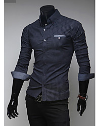 Dinuo mænds nye kontrast farve kausal shirt