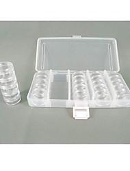 Circular  Plastic Transparent  Storage Case 25 Sets