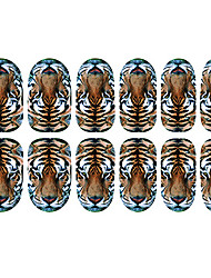 12PCS Tiger-Muster Luminous Nail Art Sticker