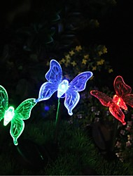 cheap -Solar Color-Changing Butterfly Garden Stake Light High Quality