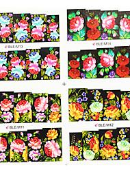 4ni1 Transferência Flor Água prego impressão de arte coloridas Stickers