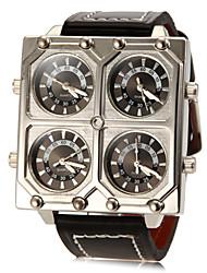 Недорогие -Муж. Армейские часы Кварцевый PU Группа Черный