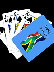 cheap -Personalized Gift Blue South Africa Flag Pattern Playing Card