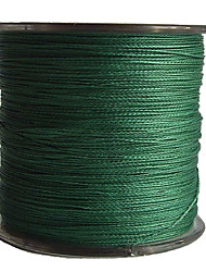 cheap -500M / 550 Yards PE Braided Line / Dyneema / Superline Fishing Line Green 50LB / 45LB / 60LB 0.3,0.32,0.37 mm ForSea Fishing / Freshwater