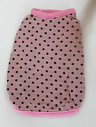 Cani T-shirt Giallo / Blu / Rosa Abbigliamento per cani Estate A pois