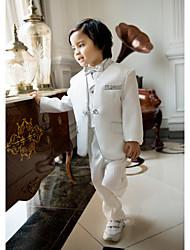 Polyester/Baumwollmischung Ring-Träger Anzug - 5 Enthält Jacket Hose Weste Hemd Fliege