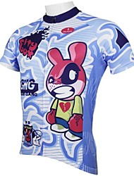 cheap -ILPALADINO Men's Short Sleeve Cycling Jersey Cartoon Bike Jersey, Quick Dry, Spring, 100% Polyester / Breathable / Ultraviolet Resistant / Breathable