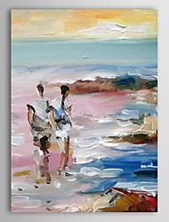 iarts®hand amateurs de paysage peinture à l'huile peintes à pied de la plage la peinture seul avec cadre tendu