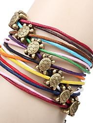 abordables -Femme Bracelets - Cuir Tortue, Animal Original, Mode Bracelet Or Pour Quotidien Décontracté Sports