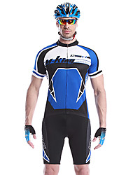 cheap -Mysenlan Men's Short Sleeve Cycling Jersey with Shorts - Green / Blue Bike Clothing Suits, Quick Dry, Breathable