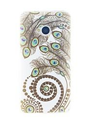 お買い得  -ケース 用途 HTC HTCケース ラインストーン バックカバー 羽毛 ソフト TPU のために