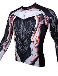 ILPALADINO Muškarci Dugih rukava Biciklistička majica Lubanje Bicikl Biciklistička majica, Ugrijati, Quick dry, Ultraviolet Resistant,