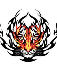 Modelo del tigre Fuego decorativo etiqueta engomada del coche