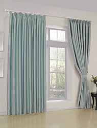 cheap -Rod Pocket Grommet Top Tab Top Double Pleat Two Panels Curtain Modern Solid Living Room Polyester Material Blackout Curtains Drapes Home
