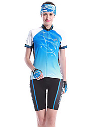 cheap -Mysenlan Women's Short Sleeve Bike Clothing Suits Quick Dry Wearable Breathable Spandex 100% Polyester Polyamide Spring SummerLeisure