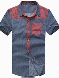 Mode d'été grande taille pour homme à manches T-shirt court