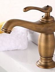 cheap -Bathroom Sink Faucet - Rotatable Antique Brass Centerset One Hole Single Handle One Hole