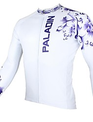 ILPALADINO Cycling Jersey Men's Long Sleeves Bike Jersey Tops Thermal / Warm Quick Dry Ultraviolet Resistant Breathable 100% Polyester