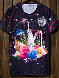 billige -Herre-Multi Farve Chic & Moderne T-shirt