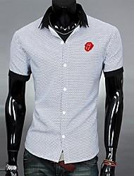 Camicia da uomo Collo Collo colore di contrasto T-shirt Fashion Casual