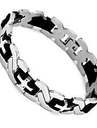 cheap -Bangle Silver Tone Summer   210mm  304 Stainless Steel Men's Bracelet  Jewelry Christmas Gifts