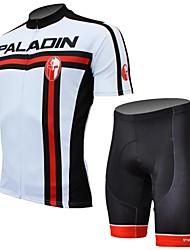 povoljno -ILPALADINO Muškarci Kratkih rukava Biciklistička majica s kratkim hlačama - Crn Bicikl Kratke hlače Biciklistička majica Kompleti odjeće,