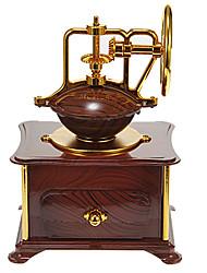 Недорогие -Шкатулка музыкальная в виде старинной кофе-машины