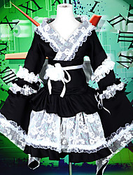 Outfits Maid Suits Sweet Lolita Lolita Cosplay Lolita Dress Black Patchwork Color Block Long Sleeves Lolita Top Dress Armlet Waist
