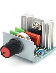 Недорогие -FR-4 2000W Электронный регулятор напряжения ж / Диммер / Скорость / Регулировка температуры - Зеленый