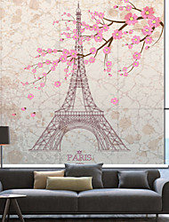 cheap -Euro Dreamlike Eiffel Tower Sakura Roller Shade