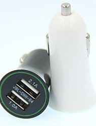 Universal Car Vehicle Power Dual 2 puertos USB 2.1A adaptador de cargador de coche para el ipad del iphone HTC Samsung ...