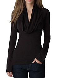 cheap -Women's New Fashion Cowl Long Sleeve sexy v-neck elastic T-shirt