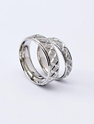 Korean Style Fashion X Pattern Titanium Steel Couple Rings Promis rings for couples