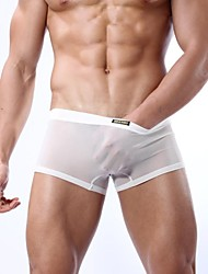 cheap -Men's Sexy Shorties & Boyshorts Panties Solid Colored Low Waist