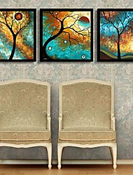 povoljno -Uokvireno platno Uokvireni set Cvjetni / Botanički Wall Art, PVC Materijal s Frame Početna Dekoracija Frame Art Stambeni prostor Spavaća