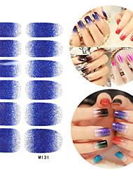 preiswerte -28PCS Glitter Verlaufsart Nail Art Sticker M-Serie No.131