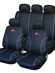 abordables -9 piezas Set Car Seat Covers Negro y Blanco Delantero Trasero Racing Style Proctor Set-L Fit universal