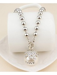 cheap -Women's Pearl Crystal Imitation Pearl Pendant Necklace Pearl Necklace  -  Necklace For Wedding Party Daily