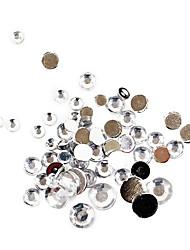 Decorações de arte 500pcs tamanho mixs acrílico branco diamante unhas