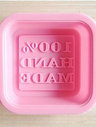 """""""100% ручной работы"""" Письмо форма торт и мыло формы, силикон 6 × 6 × 2 см (2,4 × 2,4 × 0,8 дюйма)"""