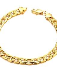Недорогие -Классическая мода Copper покрытие Мужчины 18 К Золотой браслет