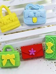 bolsa destacável bonito e carteira em forma de borracha (cor aleatória x 5 pcs)
