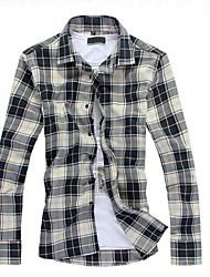 お買い得  -男性用 プリント プラスサイズ シャツ