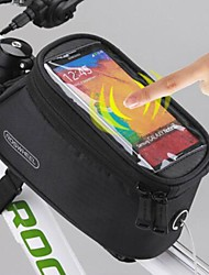 cheap -ROSWHEEL Bike Saddle Bag Bike Frame Bag Cell Phone Bag 5.5 inch Waterproof Waterproof Zipper Touch Screen Cycling for Samsung Galaxy S6